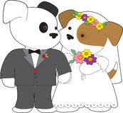 Cute Puppy Marriage Stock Photography