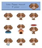 Cute puppy mascot Royalty Free Stock Photography