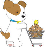 Cute Puppy Shopping Royalty Free Stock Photo
