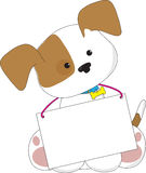 Cute Puppy Sign Stock Photo