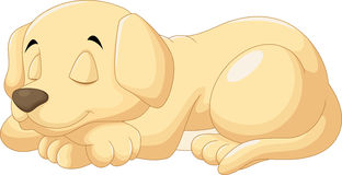 Cute puppy sleeping. Vector illustration of cute puppy sleeping royalty free illustration