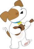 Cute Puppy Ukulele Royalty Free Stock Photos
