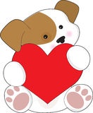 Cute Puppy Valentine Royalty Free Stock Images