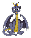 Cute purple dragon cartoon Stock Image
