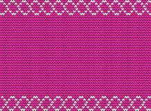 Cute purple fabric background framed with white weavy pattern. Stock Images