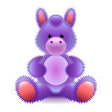 Cute purple horse soft toy isolated on white vector Royalty Free Stock Image