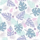 Cute purple leafs pattern. Royalty Free Stock Photo