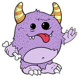 Cute Purple Monster, Illustration Stock Images