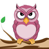 Cute purple owl Royalty Free Stock Photos