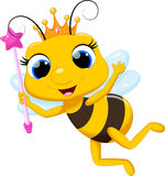 Cute queen bee cartoon Stock Photo