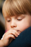 Cute Quiet Little Girl Resting Stock Image