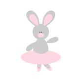Cute Rabbit Ballerina. Cute cartoon rabbit balletina in a pink tutu and pointes Royalty Free Stock Photo