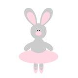 Cute Rabbit Ballerina Stock Photo