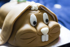 Cute rabbit brown cake Stock Photography