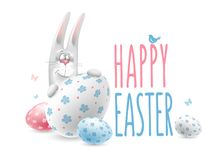 Happy Easter congratulation vector illustration