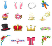 Cute rabbit cafe item, pet accessories, and decoration  Royalty Free Stock Photos