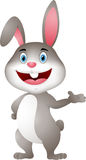 Cute rabbit cartoon presenting Royalty Free Stock Photos