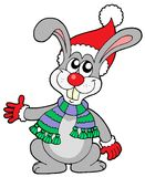 Cute rabbit in Christmas hat Royalty Free Stock Images