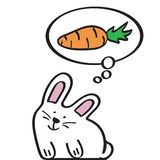 Cute rabbit, contour style Royalty Free Stock Images