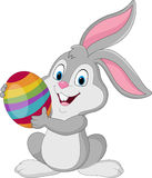 Cute rabbit with Easter egg. Illustration of Cute rabbit with Easter egg Royalty Free Stock Photos
