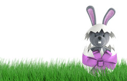 Cute Rabbit and easter eggs. 3d render Royalty Free Stock Images