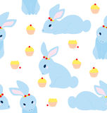 Cute Rabbit Pattern Stock Photography