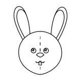 Cute rabbit plush doll Stock Photography
