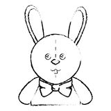 Cute rabbit plush doll Stock Photo