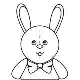 Cute rabbit plush doll Royalty Free Stock Photography