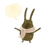 Cute rabbit retro cartoon Stock Images