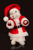 Cute rabbit in a santa costume Royalty Free Stock Photo