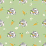 Cute rabbit seamless pattern Stock Photo
