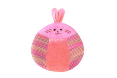 Cute rabbit sew by cloth Stock Photo