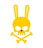 Cute rabbit skull with bones. Good, Honey Head skeleton Hare. lo Royalty Free Stock Images