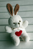 Cute rabbit soft toy Stock Photo