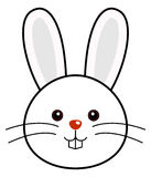 Cute Rabbit Vector. Cute animal faces in  (One of 25 of them Royalty Free Stock Photos