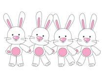 Cute rabbits royalty free illustration