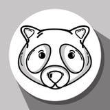 Cute raccoon animal of nature fauna. Vector illustration Stock Photography
