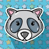 Cute raccoon animal of nature fauna. Vector illustration Royalty Free Stock Photo