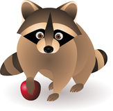 Cute raccoon cartoon Stock Photo