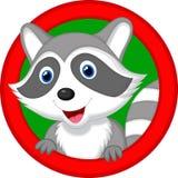 Cute raccoon cartoon posing stock illustration