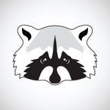 Cute raccoon face. Vector illustration Stock Photography