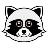 Cute Raccoon Vector. Cute animal faces in  (One of 25 of them Royalty Free Stock Photos