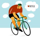 Cute racing cyclist Stock Image