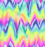 Cute Rainbow Ikat chevron print Stock Photography