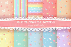 Cute rainbow season colorful pastel seamless pattern background Stock Image