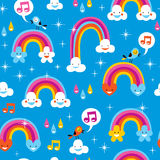 Cute rainbows pattern Royalty Free Stock Photos