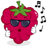 Cute Raspberry Whistling with Sunglasses Royalty Free Stock Images