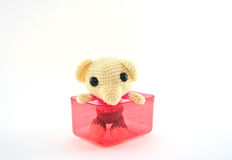 Cute rat doll yarn Stock Photography