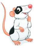 Cute rat pet. Vector illustration of cute cartoon decorative rat Stock Image